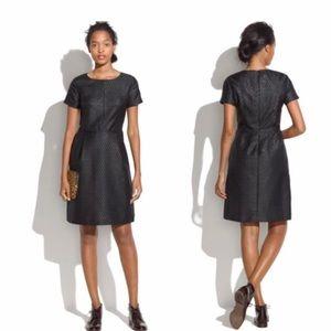 Madewell Jacquard Black Metallic Dress